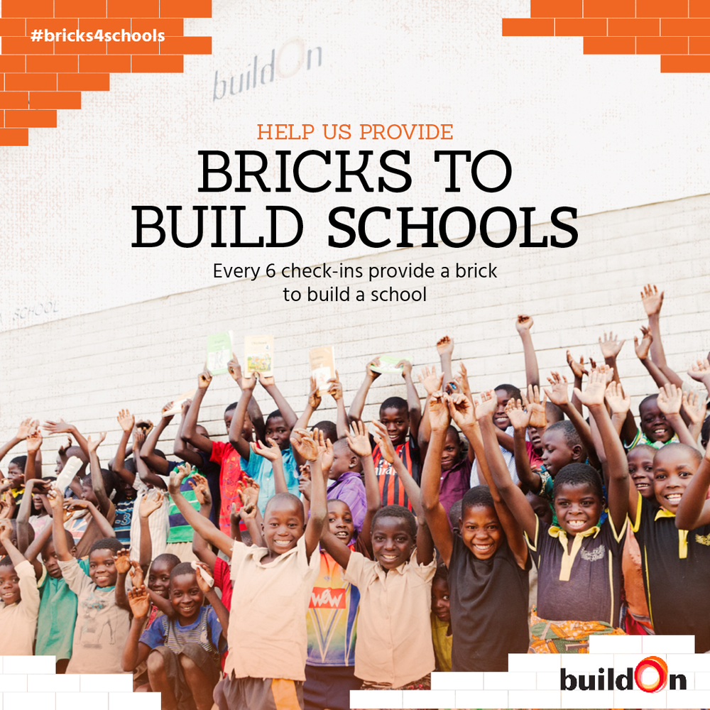 This June, every 6 check-ins at Steamtown Yoga will provide a brick to build a school. We're working with Causely and buildOn to make it happen. You can add #bricks4schools when you check in to promote the cause. For more information about this month's charity, check out www.buildon.org.