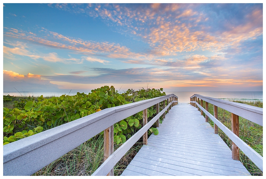 The Walk to Sunset Beach - Florida sunset photography by Andrew Vernon