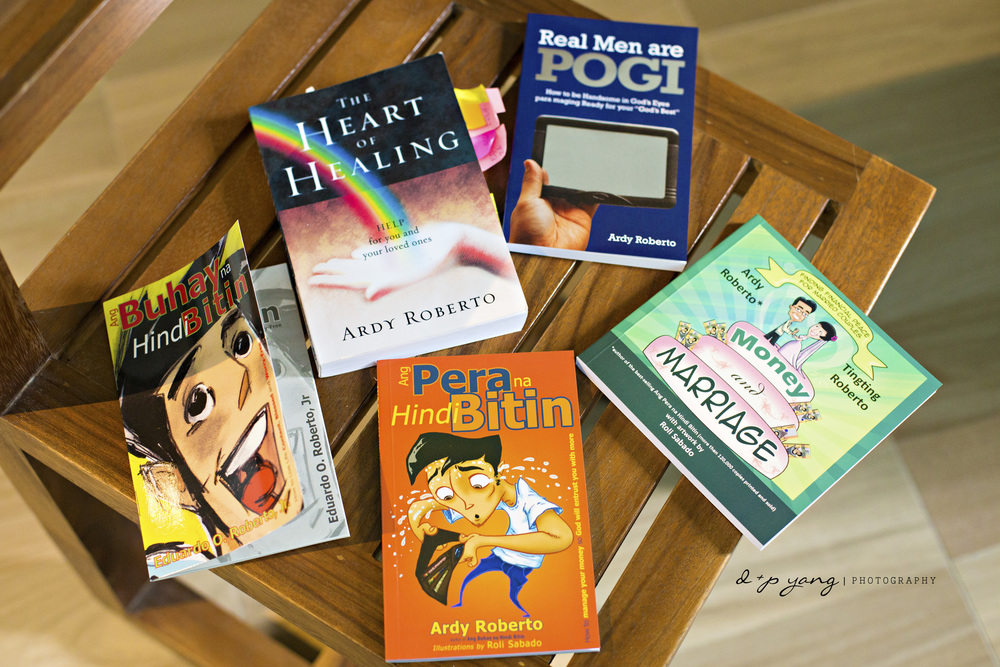 "Here are some of Ardy's books including the #1 national best selling book in the Philippines, ""Ang Pera na Hindi Bitin."""