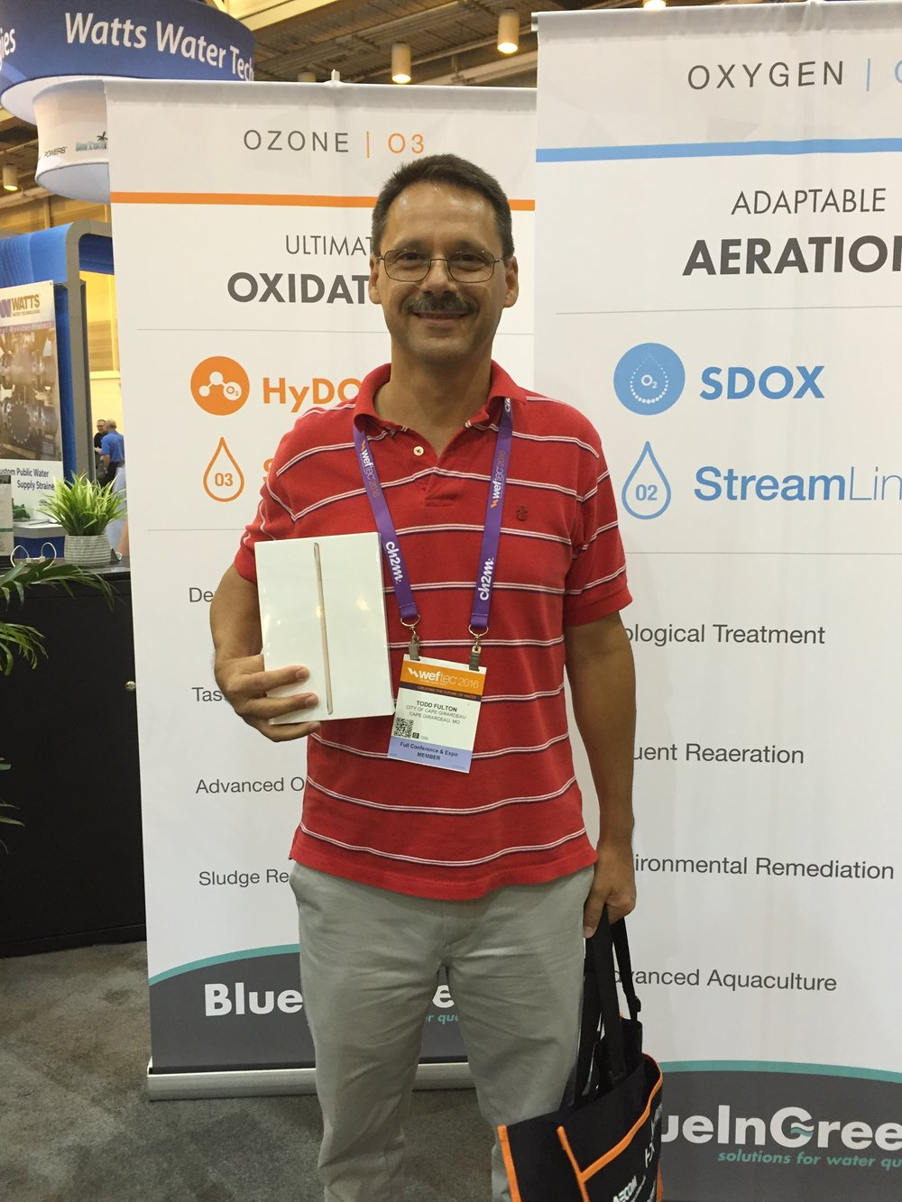 The BIG winner. Todd Fulton of Cape Girardeau, MO won our drawing for an iPad Mini.