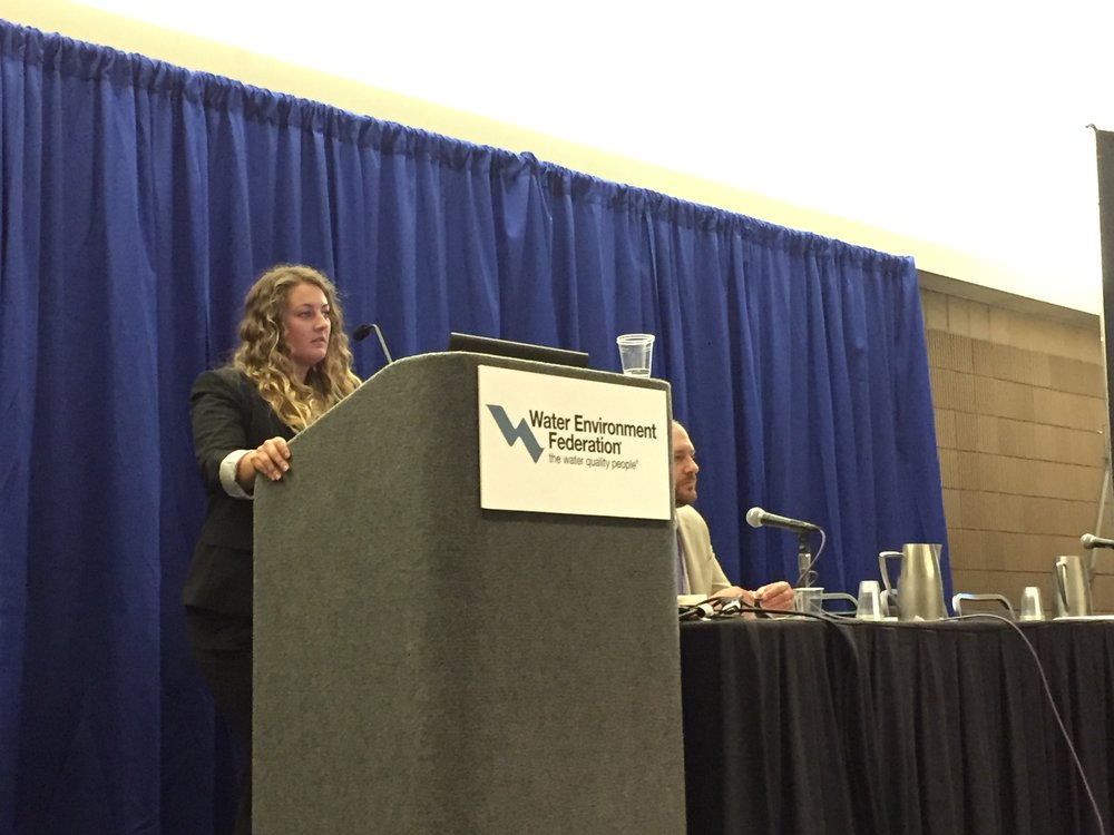 Proud to present. Product Manager Jessica Hart led a presentation about the use of ozone in the disinfection process.