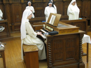 Sr. Mary Veronica plays a hymn from The Summit Choirbook at Sext (Midday Prayer).