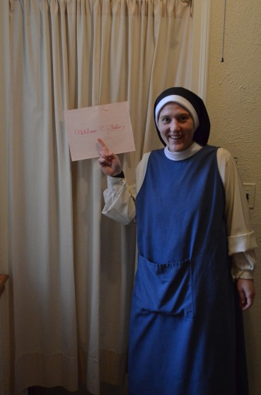 Sr. Mary Magdalene moves into her new cell in the Professed dorm.
