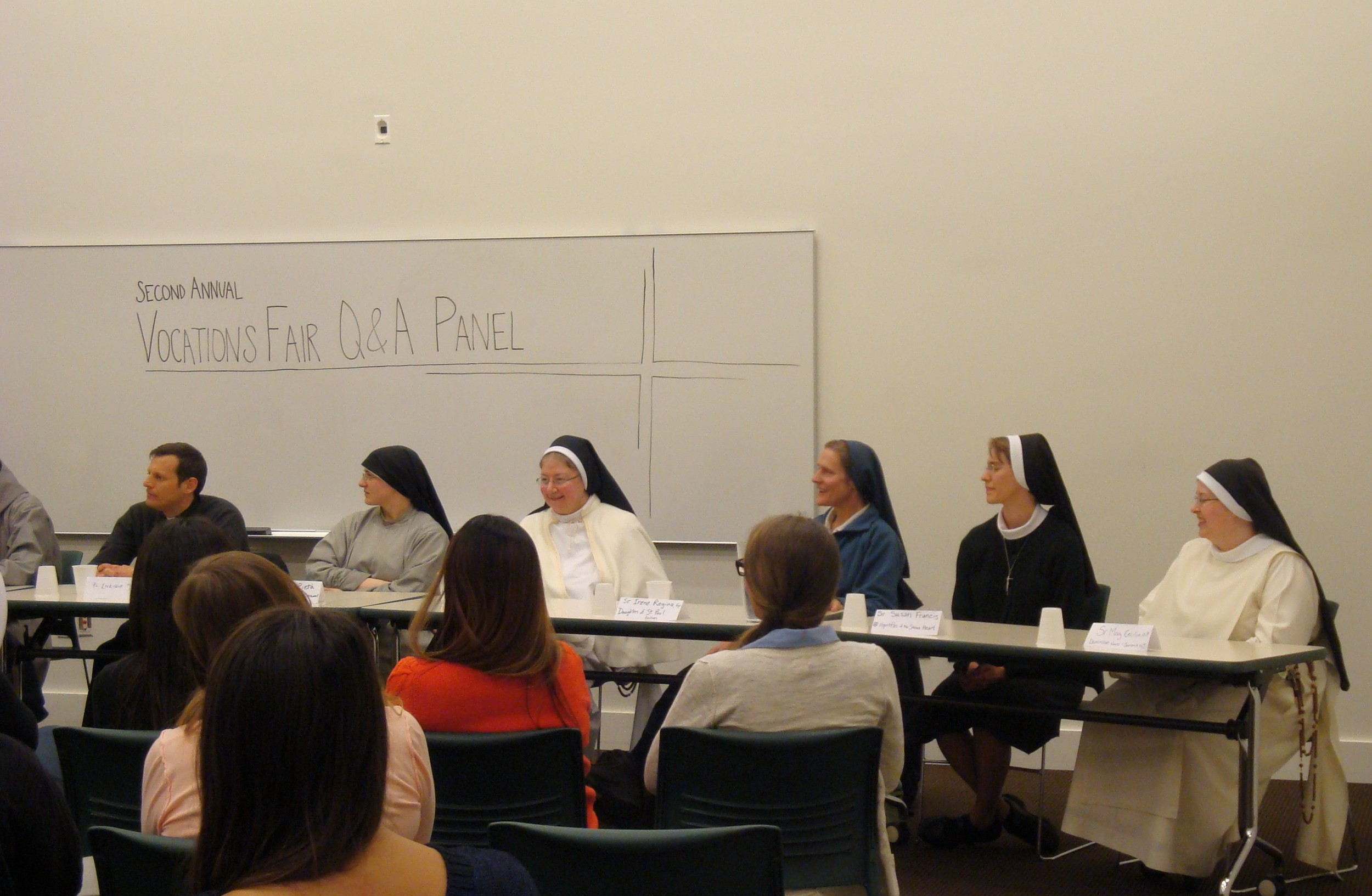 The panel of religious for the question and answer session.