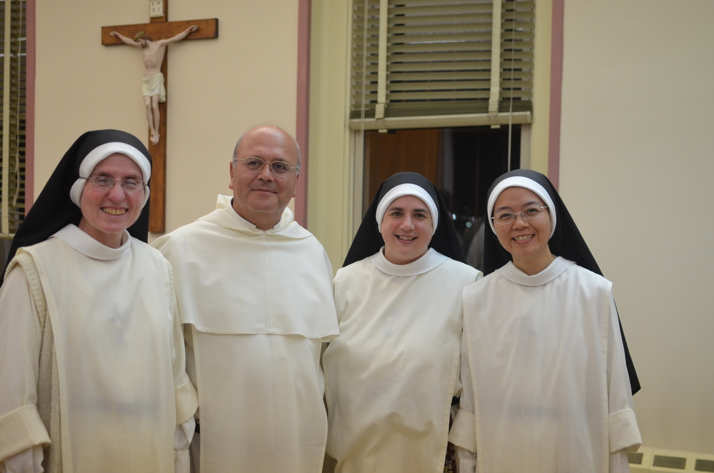 The Summit sisters made sure to get a photo with Father the last evening of the meeting.