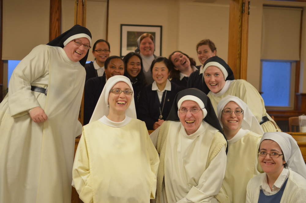 Some of our Sisters with the Aspirants for the Salesian Sisters-the Daughters of Mary Help of Christians.