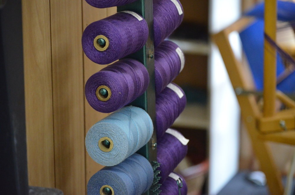 2) Making sure you have enough thread! We like to use Camilla Valley Farm's UKI- 5/2 Mercerized Cotton in Purple (#27)