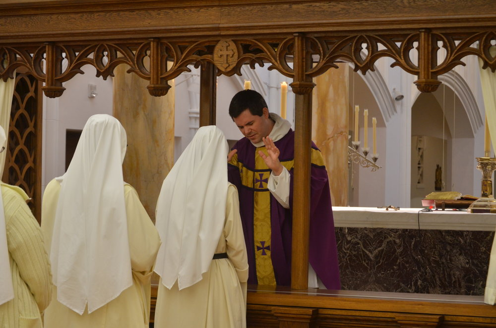 Sr. Maria Johanna receives father's blsesing
