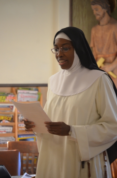Sr. Mary Jacinta presents an objection.