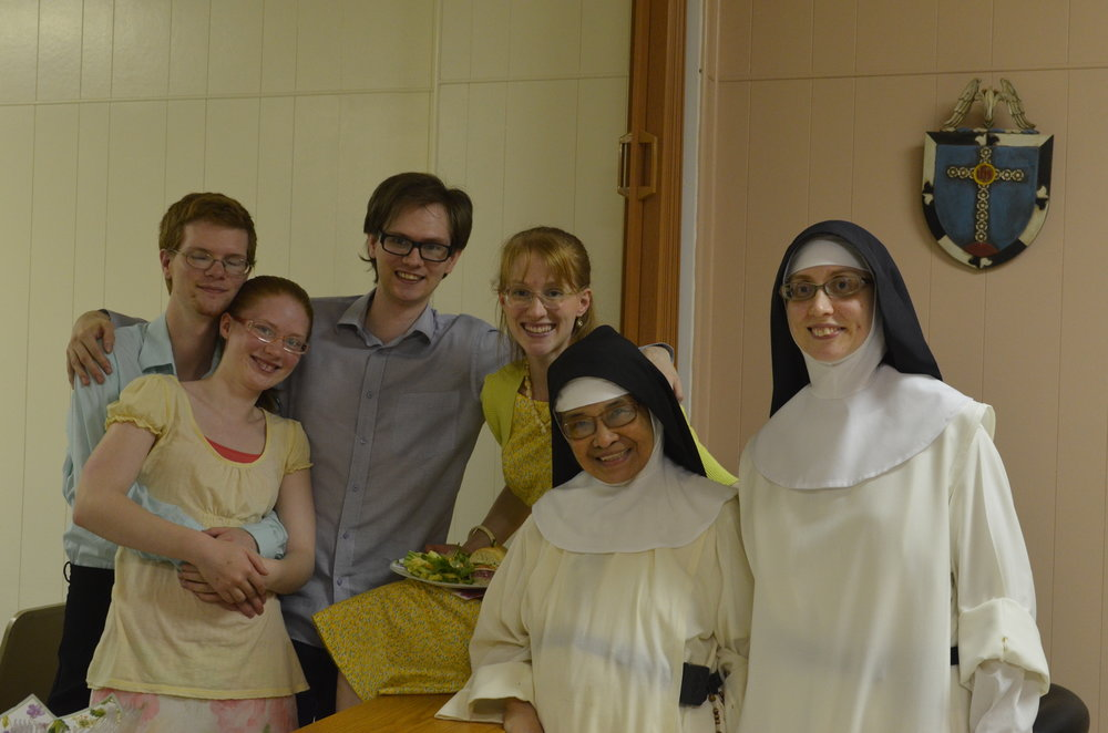 Sr. Maria Johanna & Sr. Maria Agnes with four of Sister's  (9!) siblings