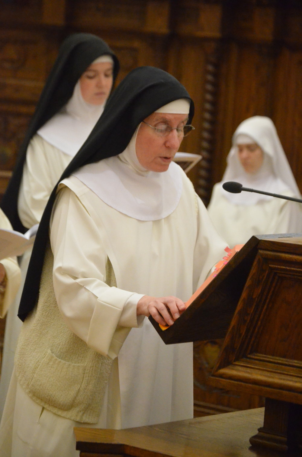Sr. Mary Martin reads the Second Reading
