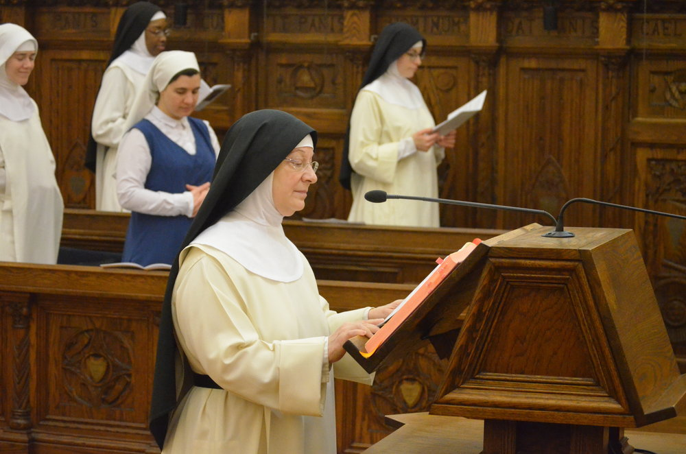 Sr. Denise Marie reads an intercession