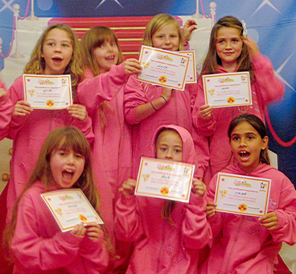 Girls rocking the runway in onesie's