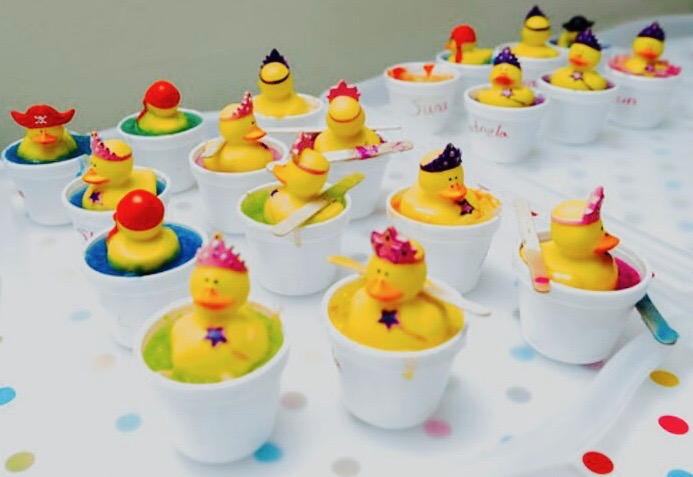 Duck soap made at Fareedha's Soap Making Party