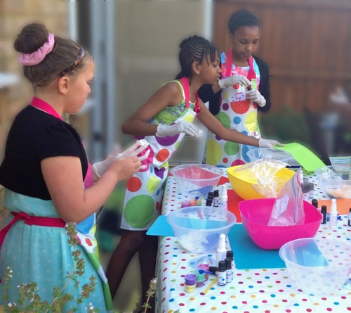 Abina's Soap Making Party