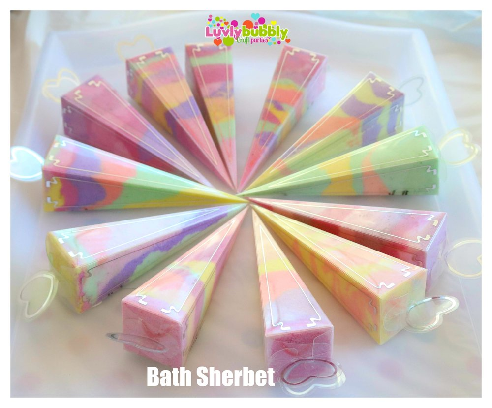 Beautiful bath sherbet