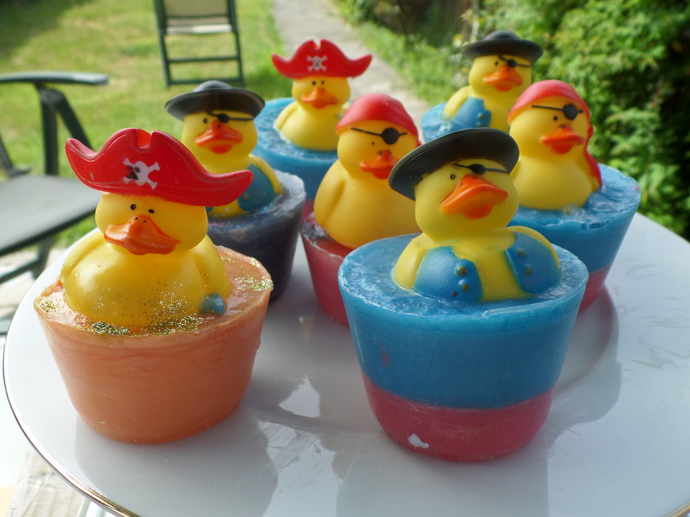 Cute duck soap created at Luvlybubbly
