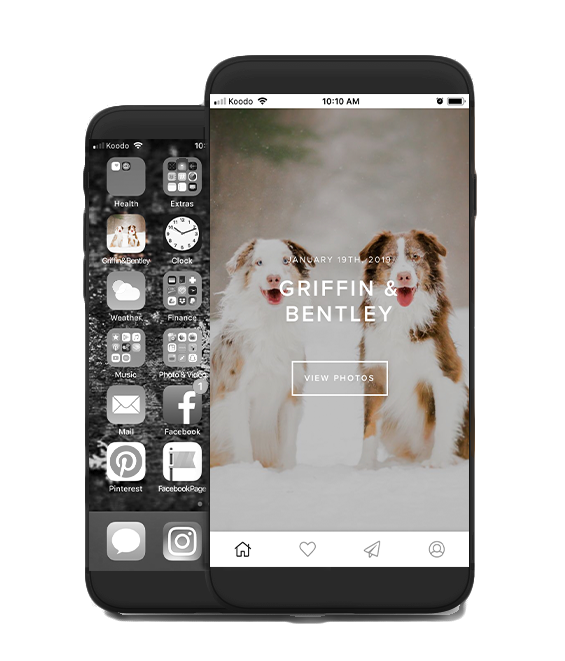 The Mobile APP - Quick and easy way to access your images in your gallery instead of scrolling through your photos. Think of it as a photo album in your pocket.