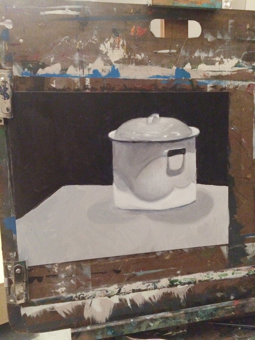 Still life of ceramic pot