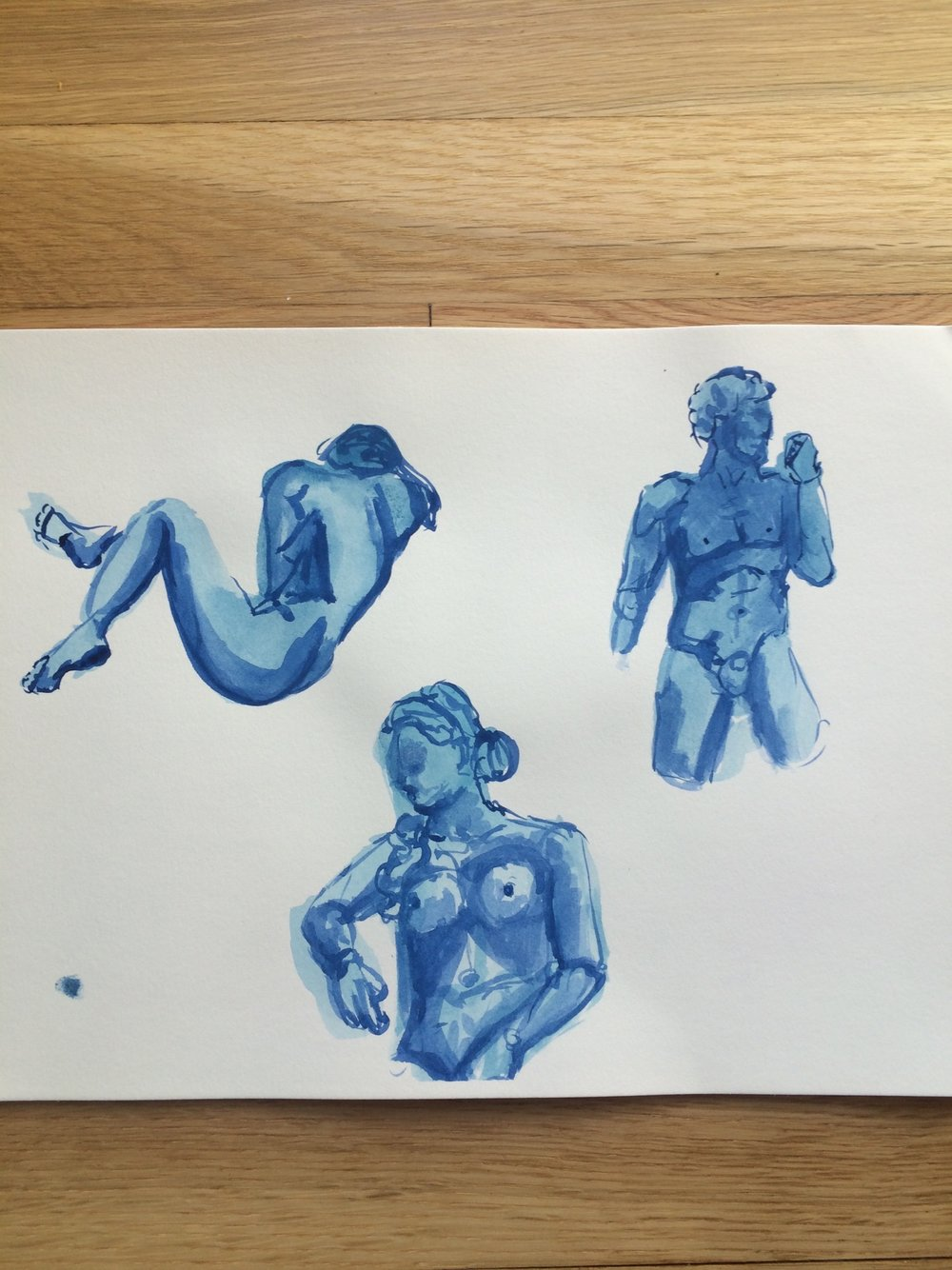 Studies of various sculptures
