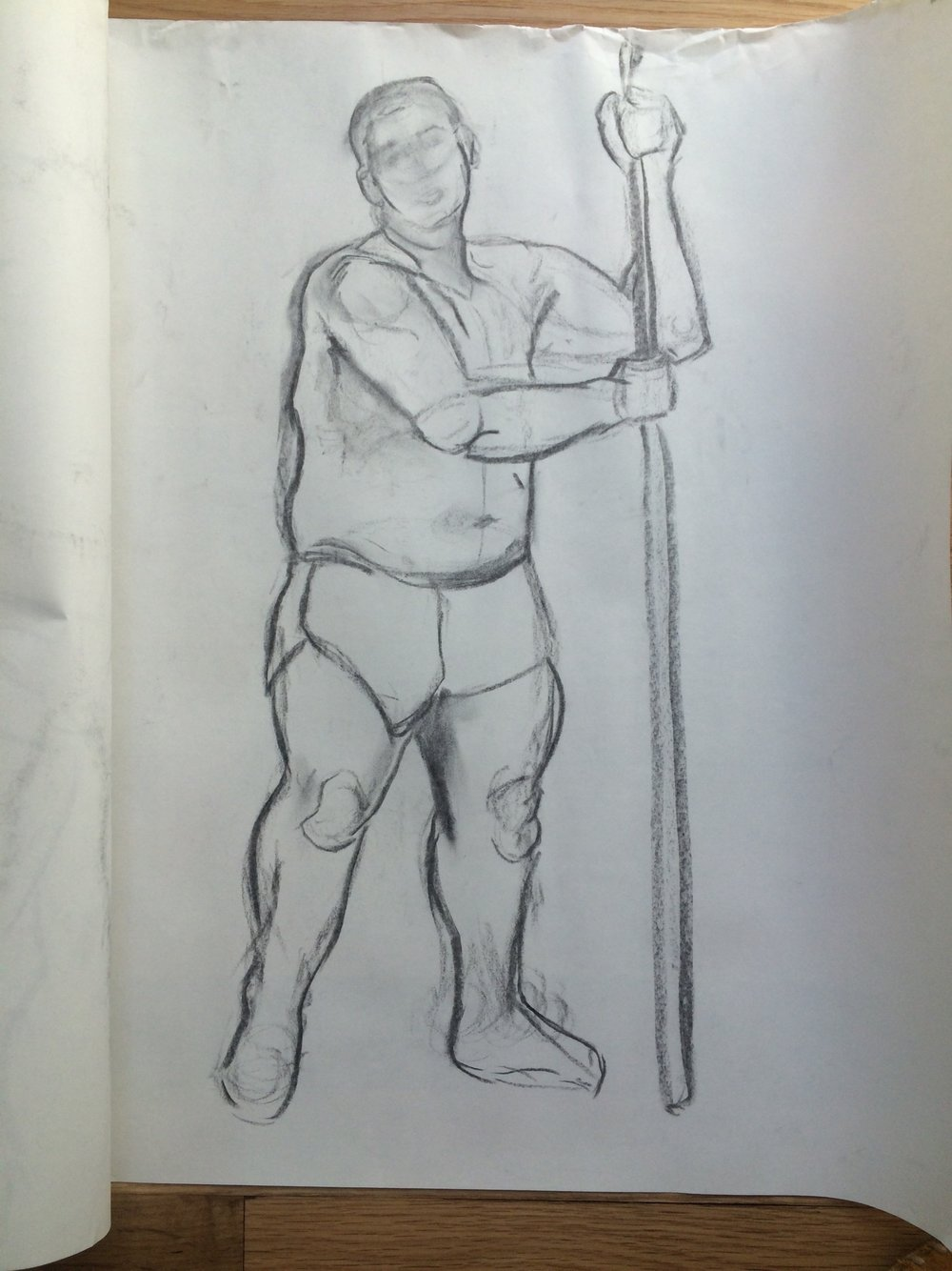 Figure sketch of a standing male