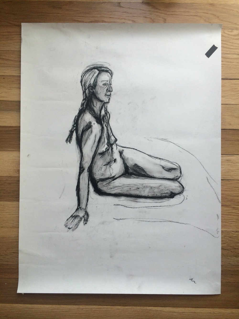 Figure study of a young woman