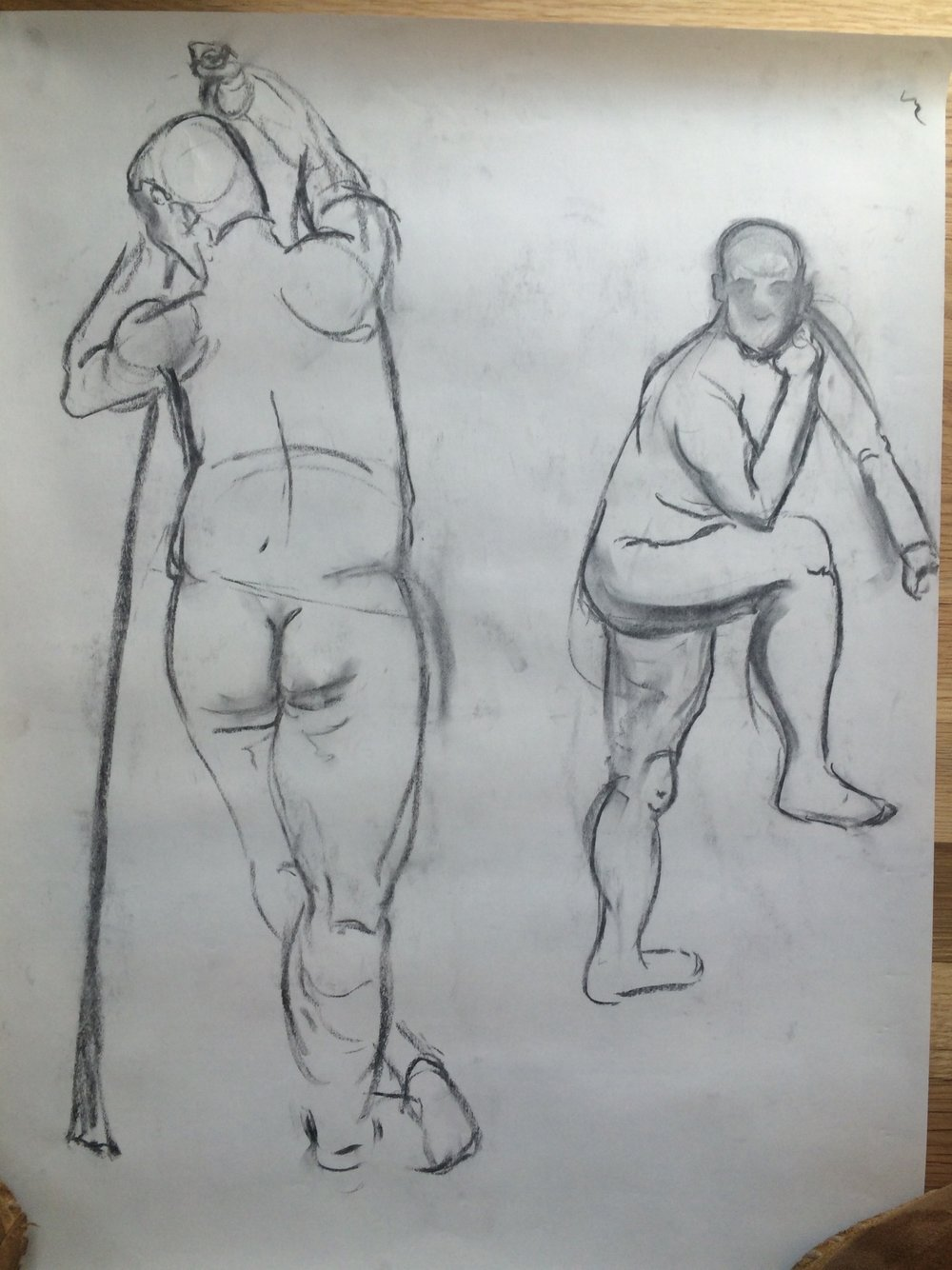 Two figure studies of a male