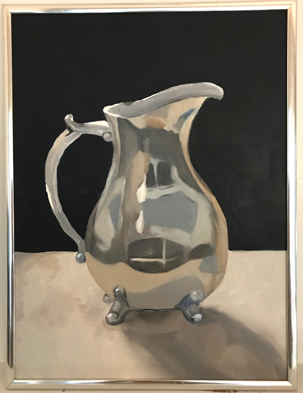 Silver pitcher sketch