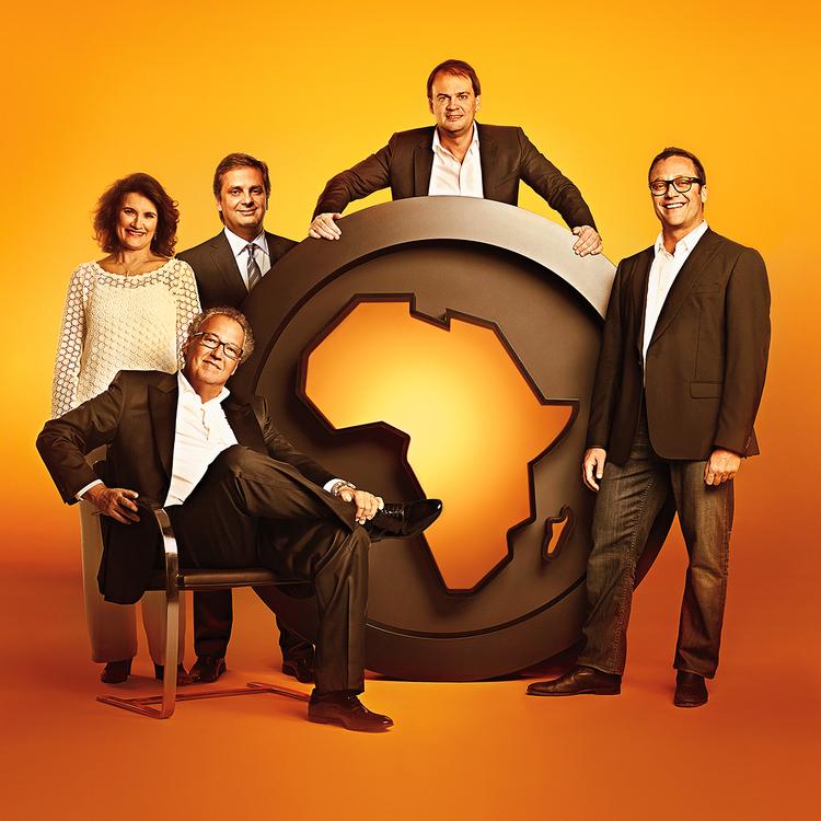 Africa's 5 founder/partners: Nizan Guanaes (seated), Olivia Machado, Luiz Fernando Vieira, Sergio Gordilho and Marcio Santoro Credit: MAURICIO NAHAS