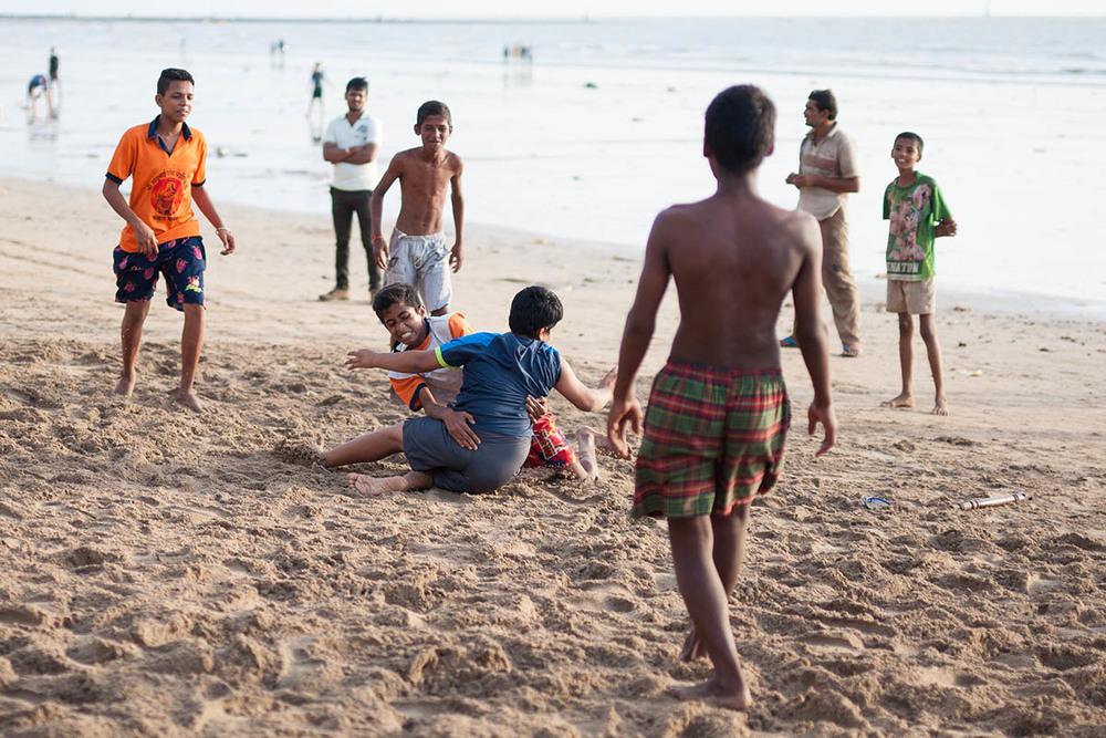 Kabaddi takedown, Juhu beach.