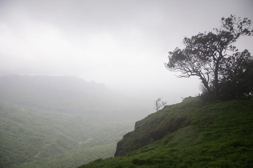 Vista of the valley below.