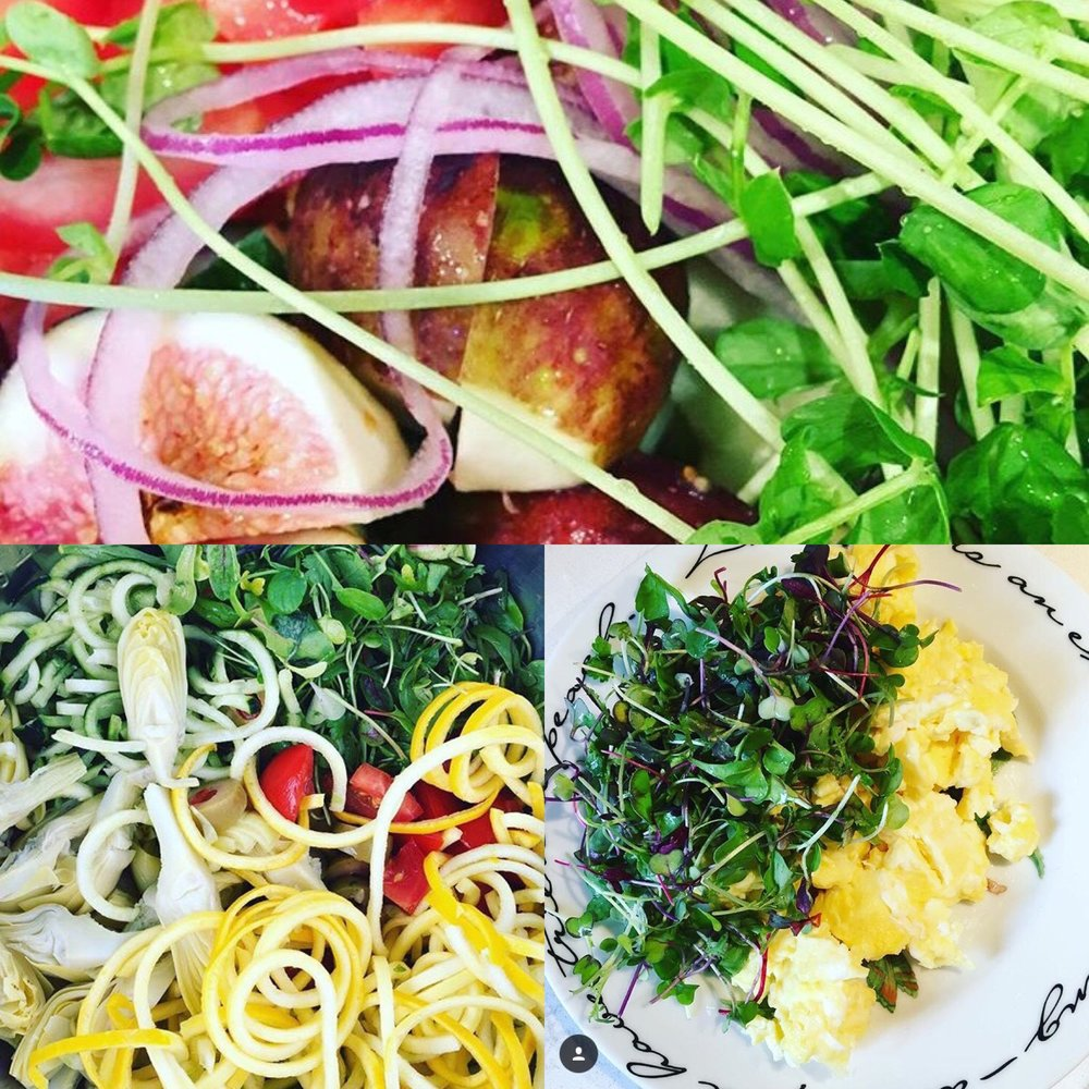 microgreens and yummies.JPG