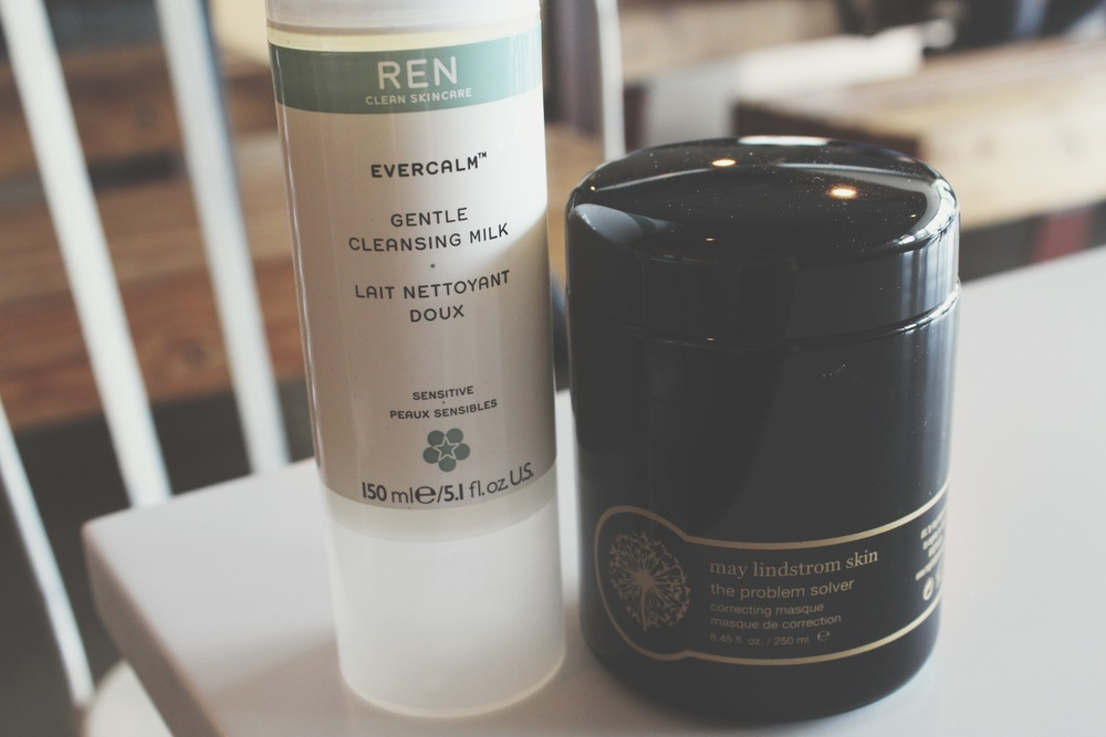 The Problem Solver masque + Ren Evercalm Gentle Cleansing Milk