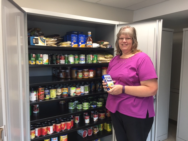 Loading up the pantry with items from the Friends of Mascoma Foundation