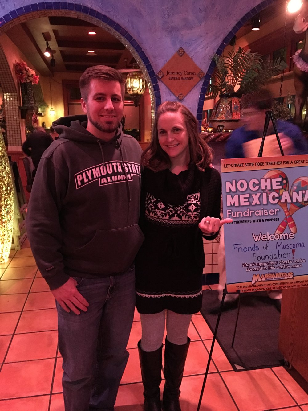 Doug and Shay Plumley have a date night while also supporting us by having dinner at Margarita's Lebanon which donates 20% of their proceeds to the charity. $700.00 was a welcome donation!  Thanks to all who came out!