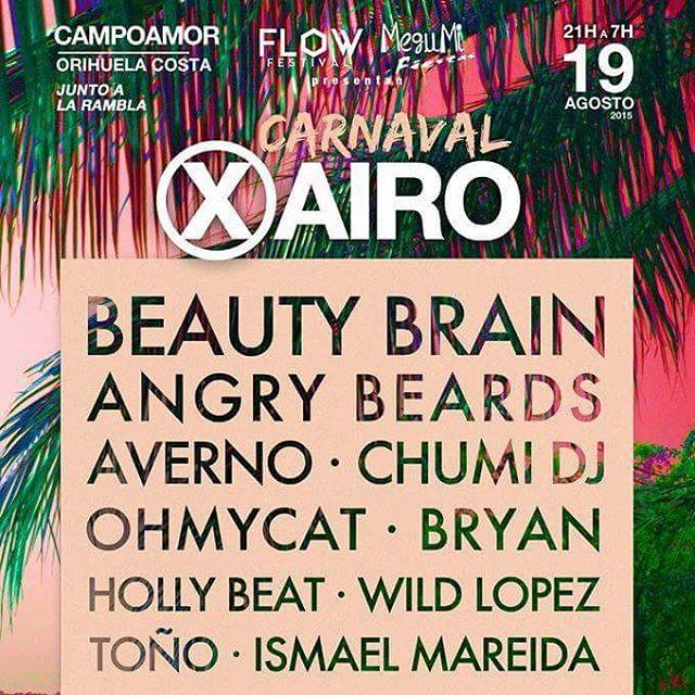 Este miércoles pinchamos en Carnaval Xairo (Campoamor-Orihuela) junto a nuestros amigos @beautybrainsp y @ohmycatohmycat  Nuestro horario de actuación es de 5 a 6 y la idea es pinchar Techno avernal todo el rato 😁