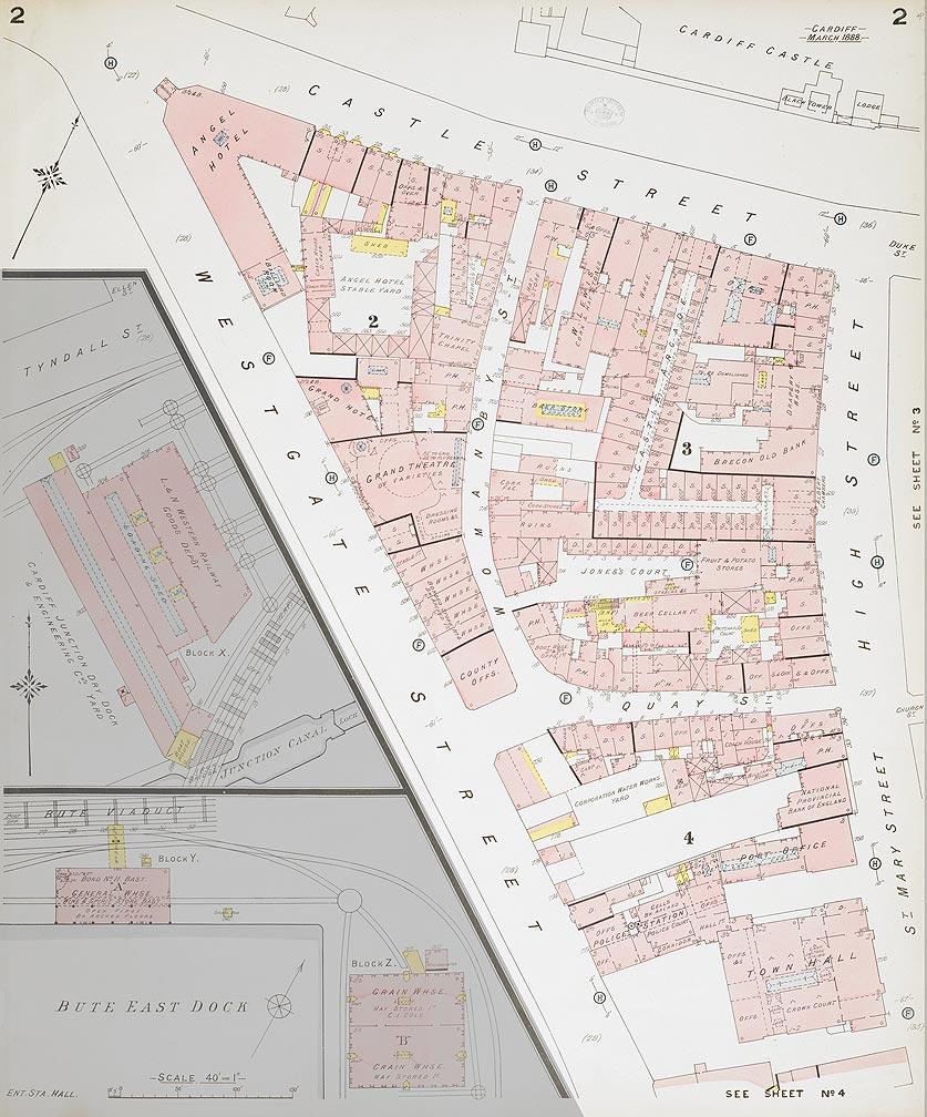 """""""Castle Quarter"""" of Cardiff 1888"""