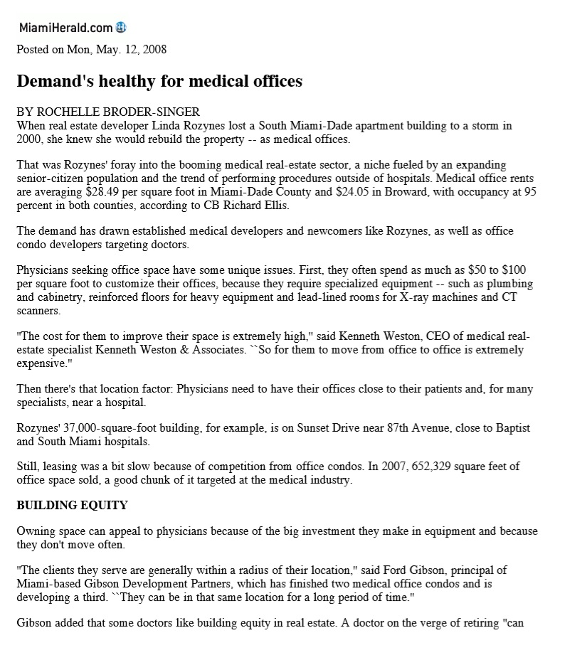 Demands Health for Medical Offices