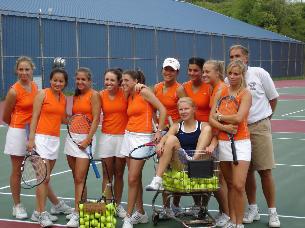 My tennis family in 2005.