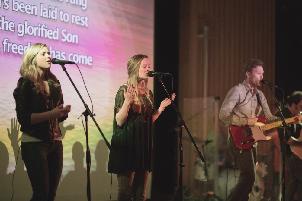 The service starts every week with worship led by Kyle Worsham and a band of Moscow natives and UI students. The band's hope is to welcome our church into the presence of God as the church.