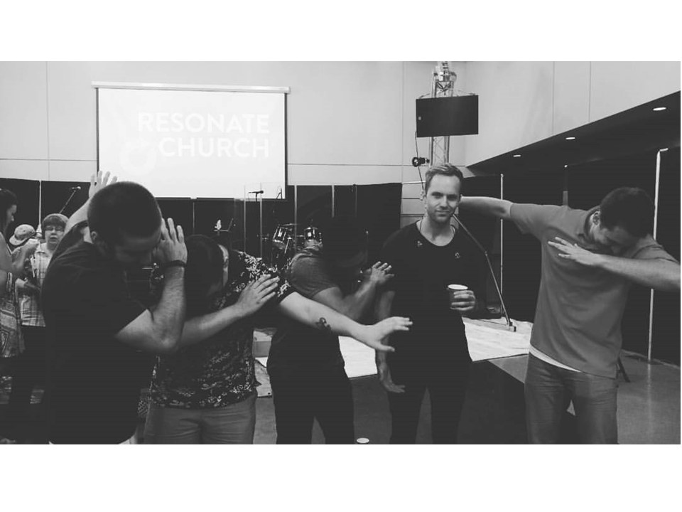 [After our first Baptism Service in Cheney, 2015 - I really hate when people Dab, even though it's ⅗ of my last name.]