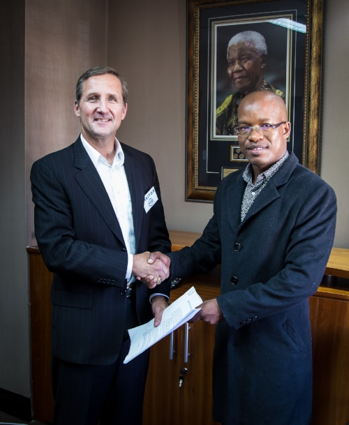 Rob Baker, President of SODEVCO, and Phemelo Gonkgang, Managing Director of JHDA (PTY) Ltd