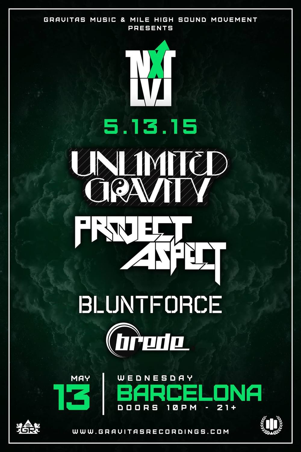 Blunt Force Barcelona Project Aspect Unlimited Gravity