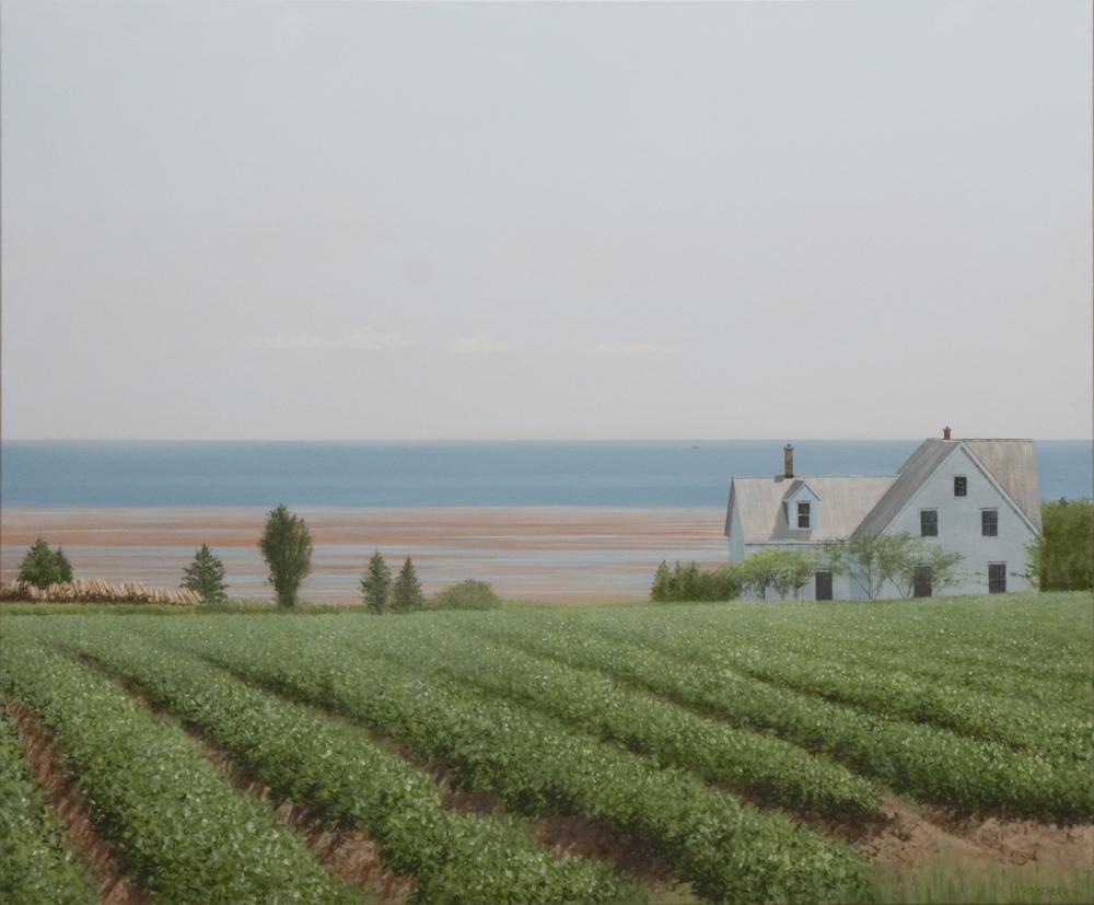"""Farm on the Coast (30"""" x 36"""")"""
