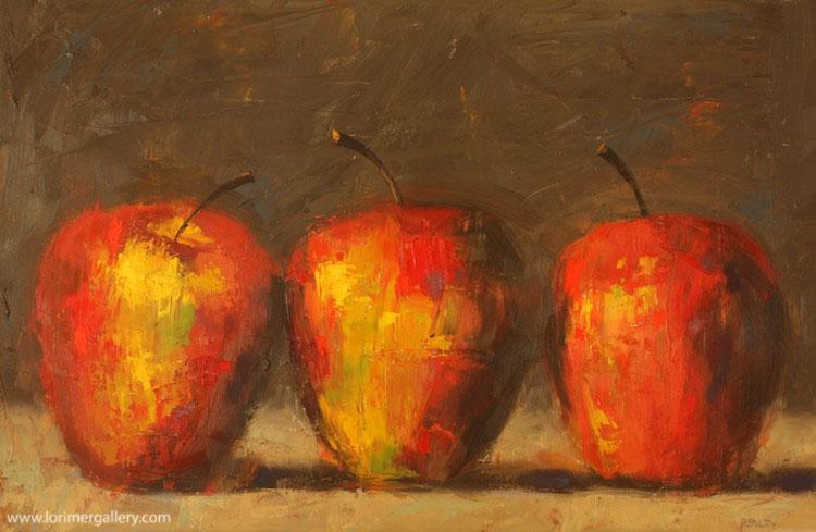 """Three Apples (24"""" x 36"""")"""