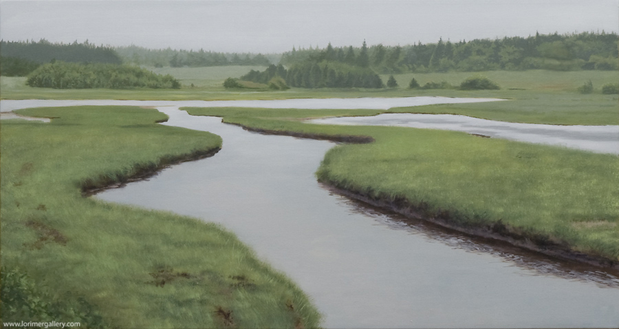 "Rainy Day PEI (16"" x 30"")"
