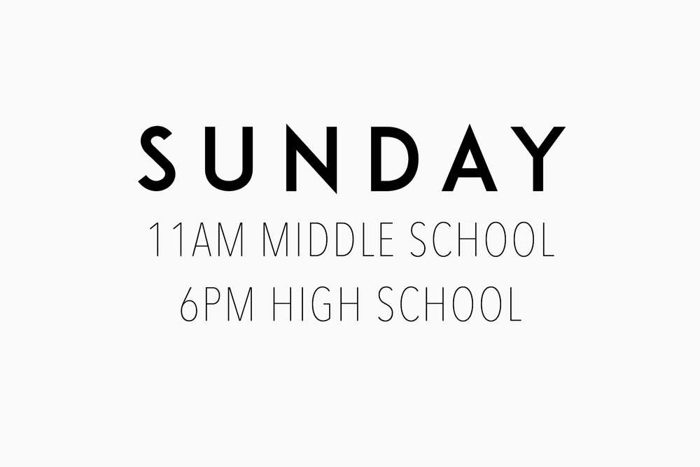SERVICE TIMES @NEW LIFE CHURCH// Our hope for our services is that we as leaders would do all we can to help students feel welcome, accepted and inspired totake next steps towards Jesus. Our services include snack, worship through song, teaching, and spacefor students to make new friends.