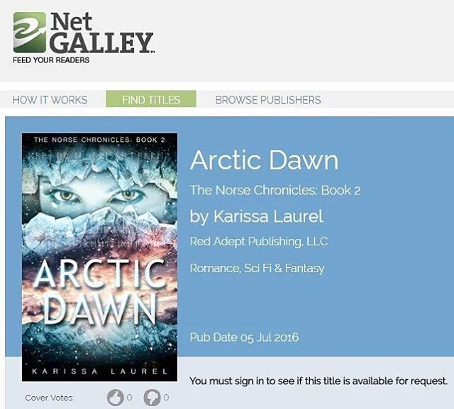 Click anywhere on the image to get to the Arctic Dawn page on Net Galley