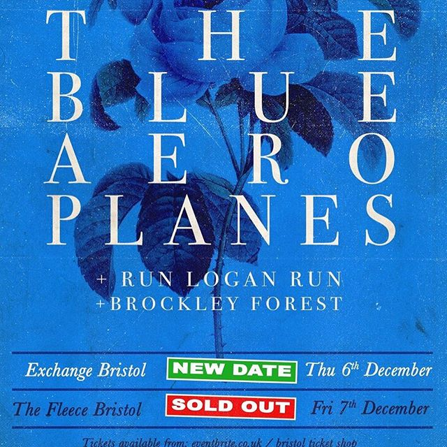 Pleased to announce we'll be playing a big Bristol hometown show this December @exchangebristol supporting @theblueaeroplanes with @run_logan_run #bristolmusic #live #gigs