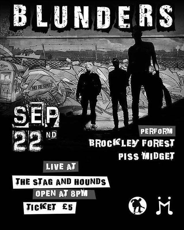 Pleased to announce we'll be playing a hometown show on Saturday 22nd Sep back in Bristol @stagandhoundsbristol Old Market with @theblunders and #pissmidgit #live #gig #bristolmusic #whatsonbristol